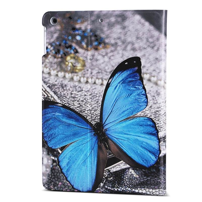 ipad air 2 case with different nice pictures with 2 stand and hard body Blue butterfly love: