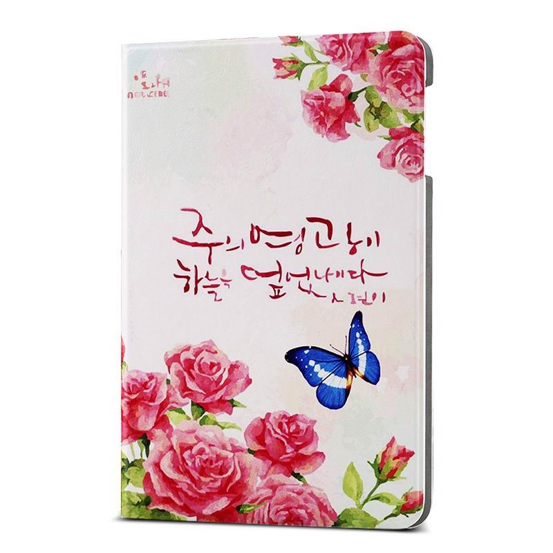 ipad air 2 case with different nice pictures with 2 stand and hard body Butterfly Peony:
