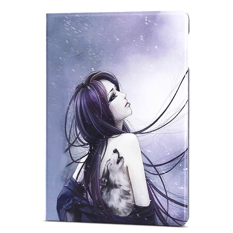 ipad air 2 case with different nice pictures with 2 stand and hard body Tattoo girl: