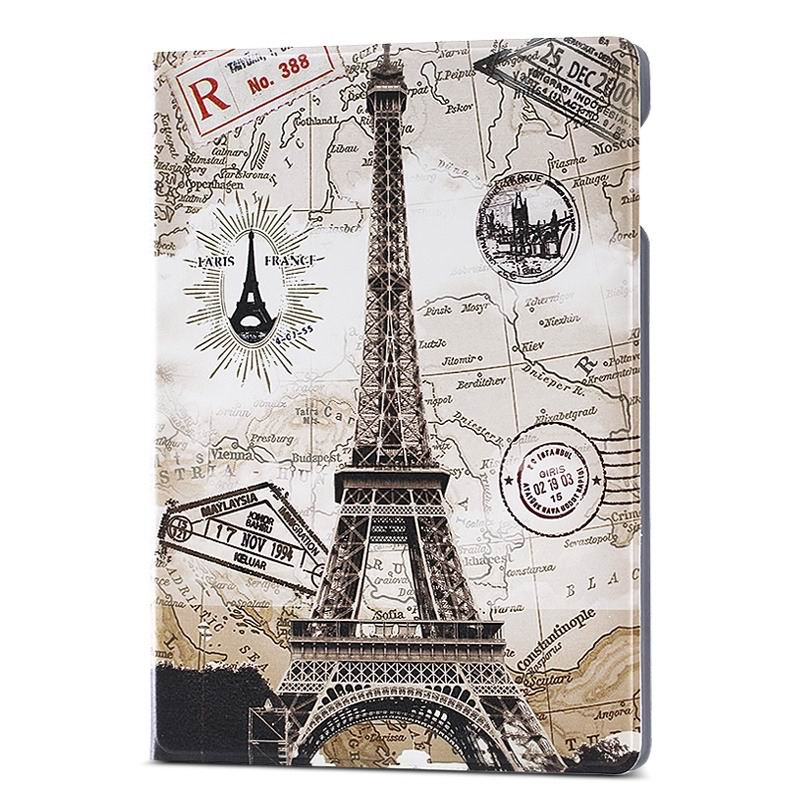 ipad air 2 case with different nice pictures with 2 stand and hard body Map Tower: