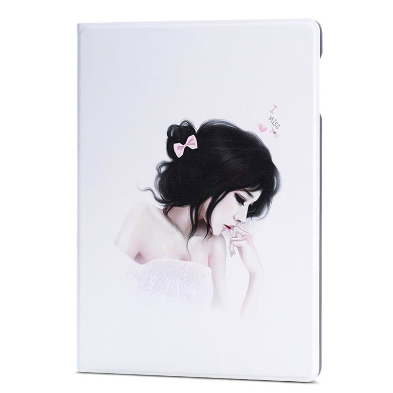 ipad air 2 case with different nice pictures with 2 stand and hard body Acacia girl: