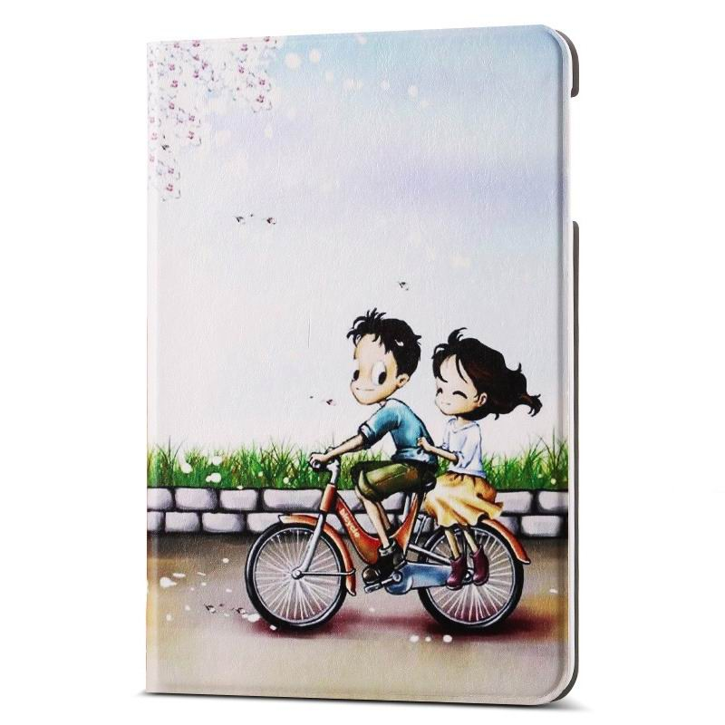 ipad air 2 case with different nice pictures with 2 stand and hard body The Cycling lovers: