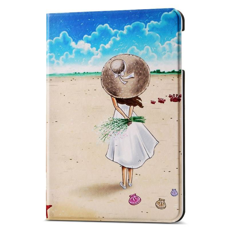 ipad air 2 case with different nice pictures with 2 stand and hard body Beach girl: