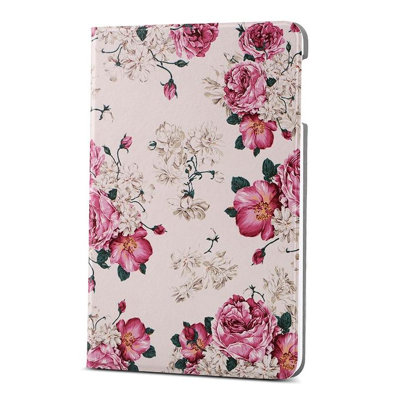 ipad air 2 case with different nice pictures with 2 stand and hard body Peony flowers: