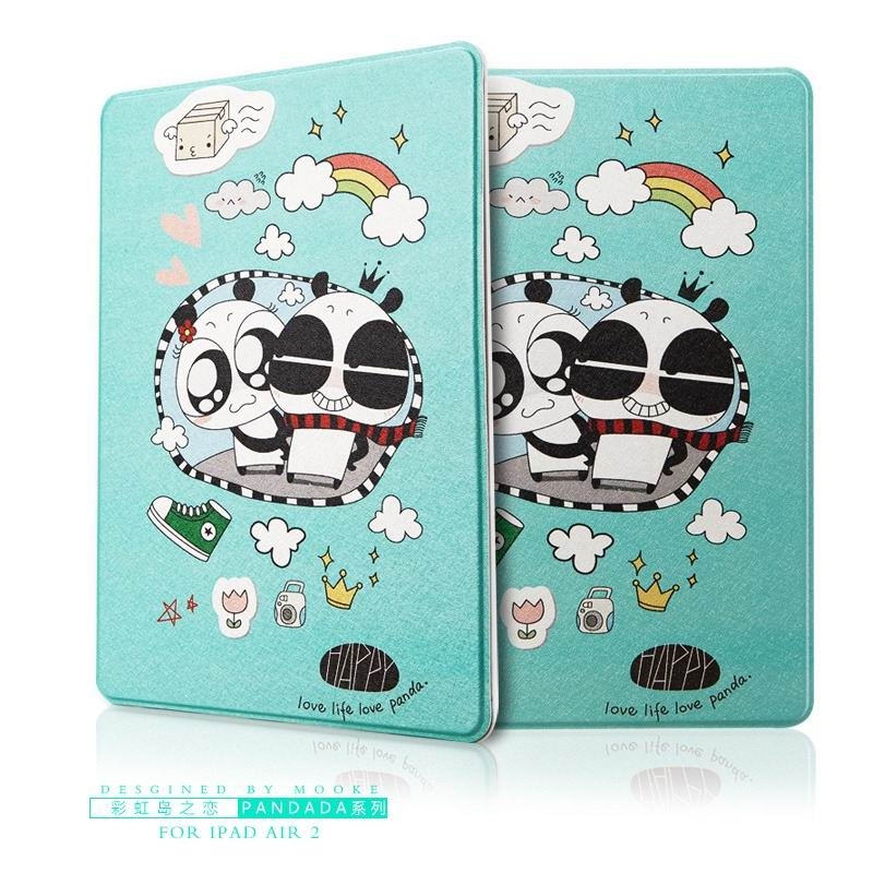 ipad air 2 case with funny pictures 2 stand and plastic body Rainbow Island love: