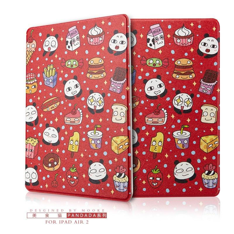 ipad air 2 case with funny pictures 2 stand and plastic body Gourmet cat: