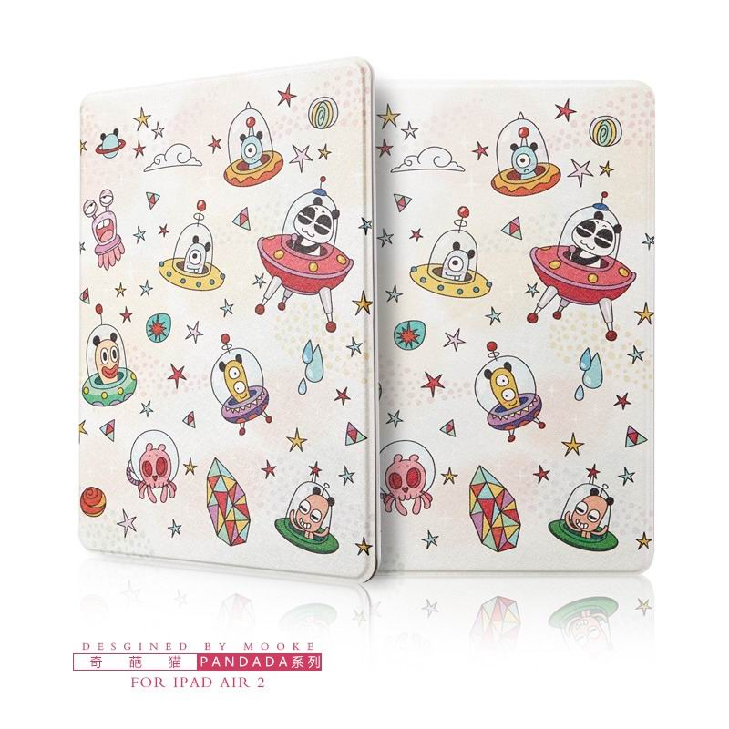 ipad air 2 case with funny pictures 2 stand and plastic body Wonderful cat: