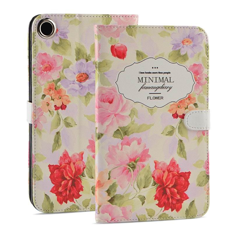 mediapad t1 70 plus case with funny pictures 2 stand and rubber housing inside 2 Rose: