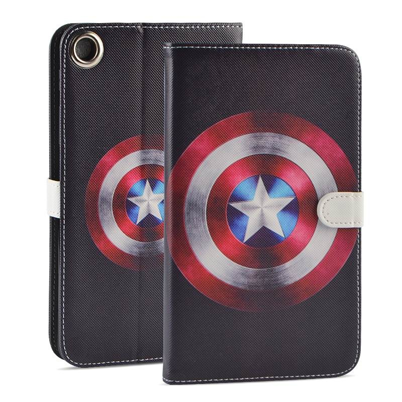 mediapad t1 70 plus case with funny pictures 2 stand and rubber housing inside 2 Captain America:
