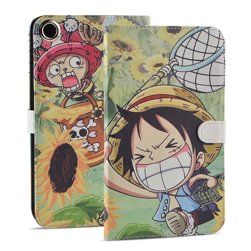 mediapad t1 70 plus case with funny pictures 2 stand and rubber housing inside 2 Luffy: