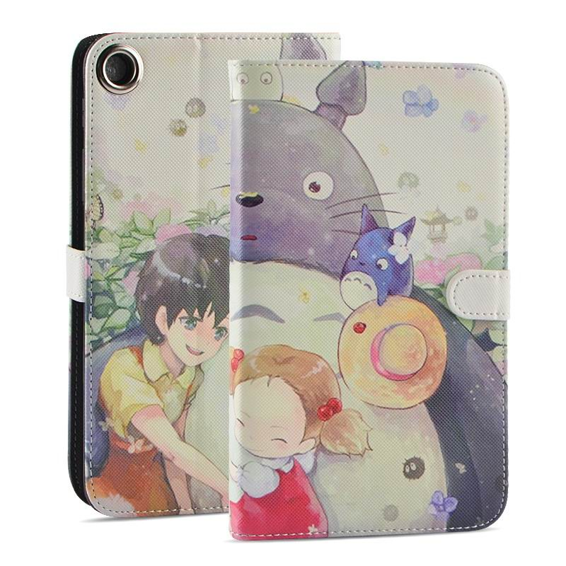 mediapad t1 70 plus case with funny pictures 2 stand and rubber housing inside 2 Totoro: