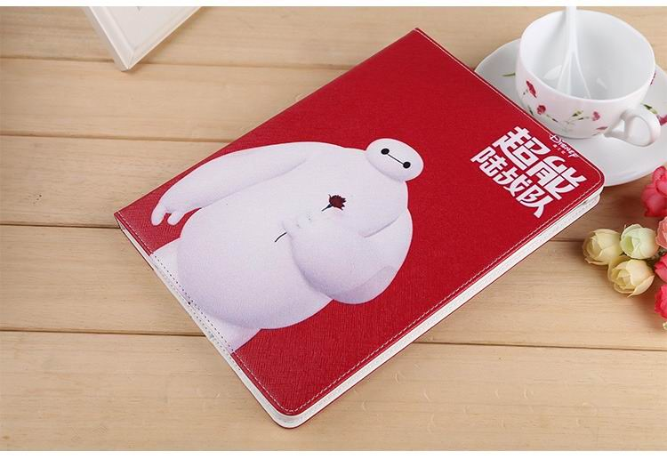 ipad air 2 case with images of cartoon heroes with 2 stand and hard white plastic body 10: