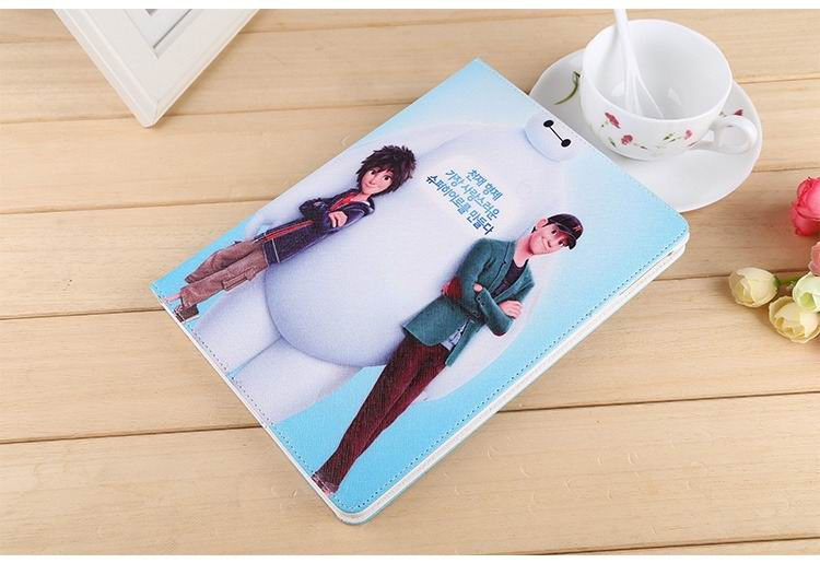 ipad air 2 case with images of cartoon heroes with 2 stand and hard white plastic body 2: