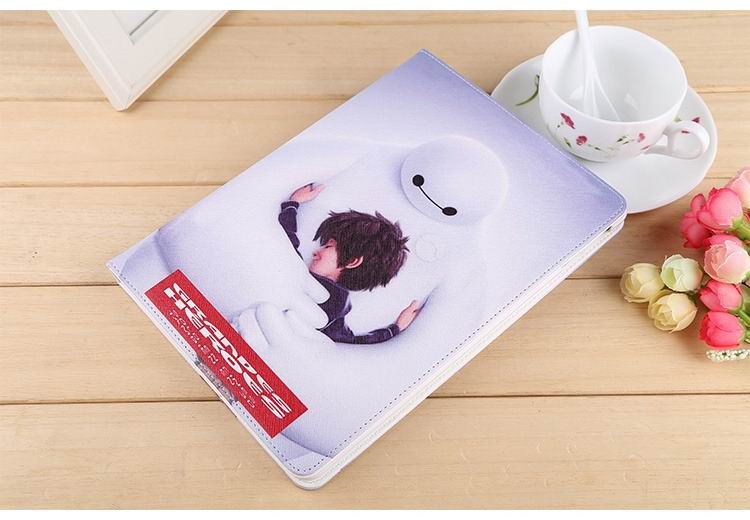 ipad air 2 case with images of cartoon heroes with 2 stand and hard white plastic body 3: