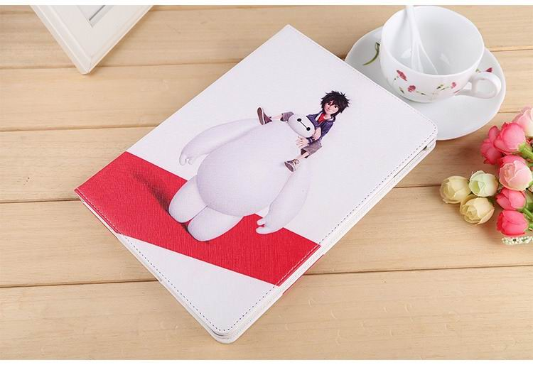 ipad air 2 case with images of cartoon heroes with 2 stand and hard white plastic body 4: