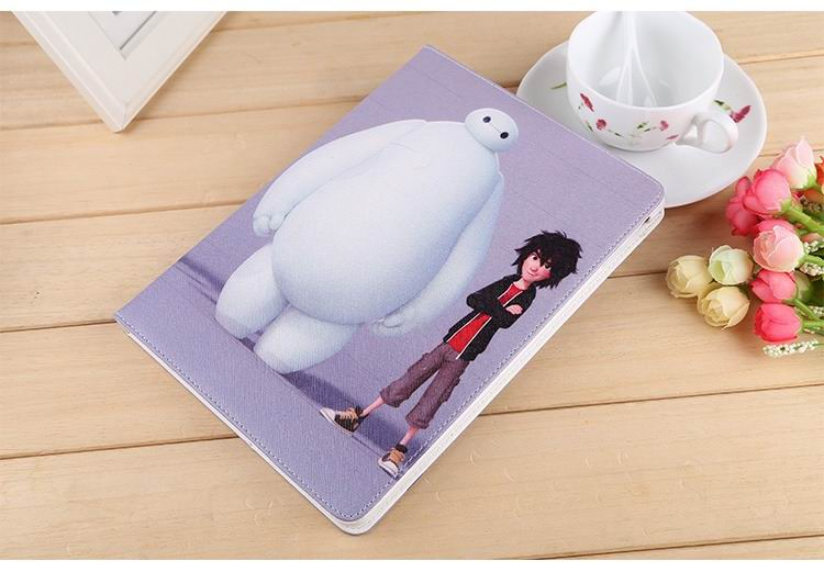 ipad air 2 case with images of cartoon heroes with 2 stand and hard white plastic body 5: