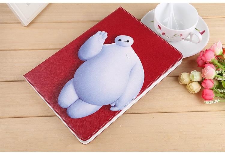 ipad air 2 case with images of cartoon heroes with 2 stand and hard white plastic body 7:
