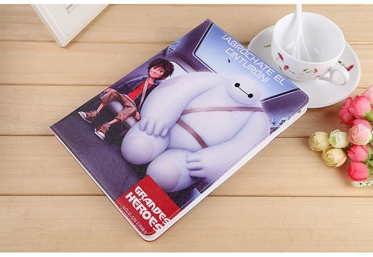 ipad air 2 case with images of cartoon heroes with 2 stand and hard white plastic body 9: