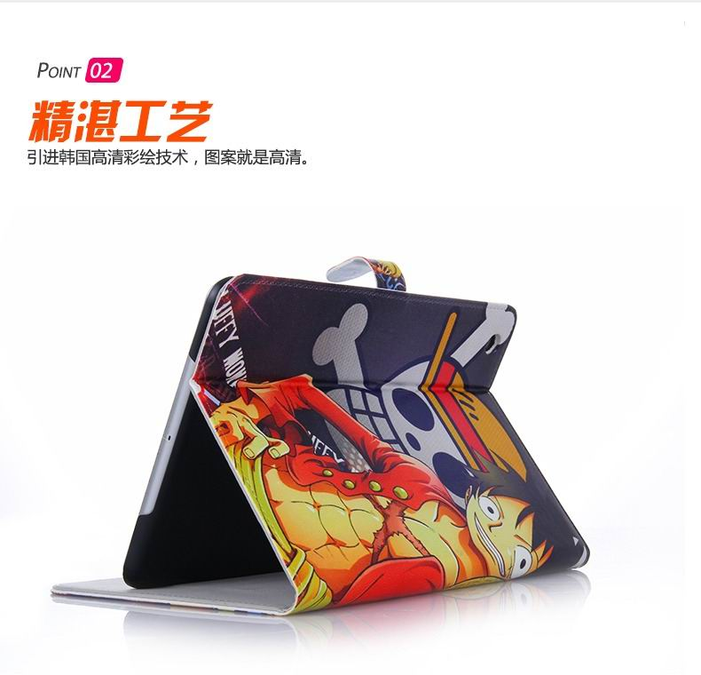 ipad air 2 case with pictures of cartoon heroes with 2 stand and plastic body
