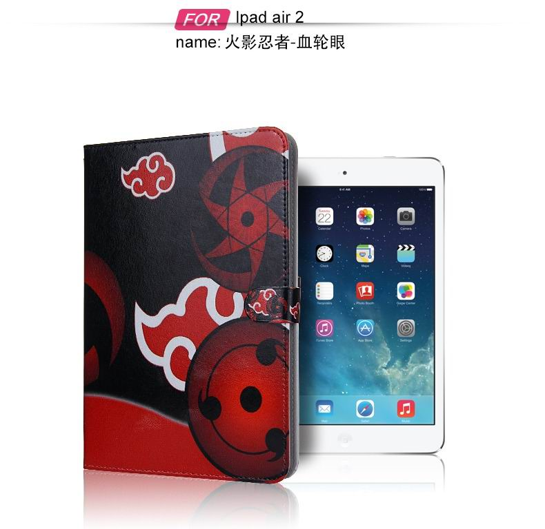 ipad air 2 case with pictures of cartoon heroes with 2 stand and plastic body 4: