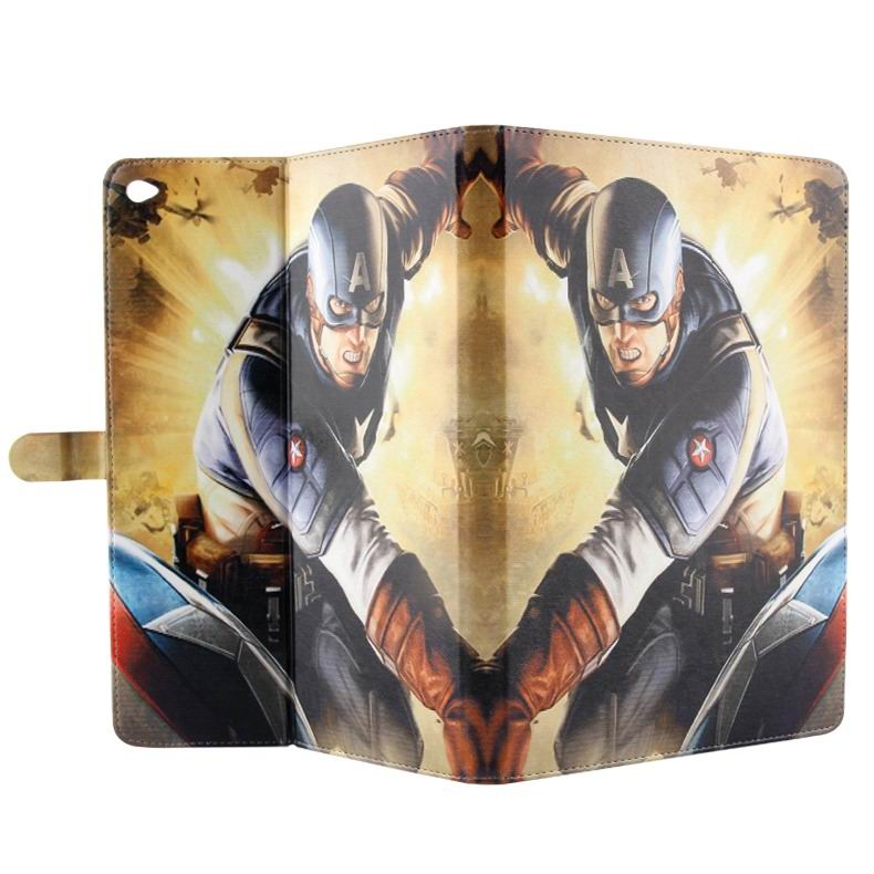 ipad air 2 case with pictures of cartoon heroes with 2 stand and plastic body 7: