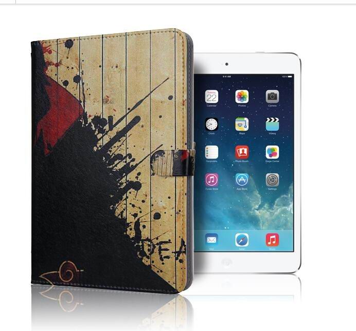 ipad air 2 case with pictures of cartoon heroes with 2 stand and plastic body 9: