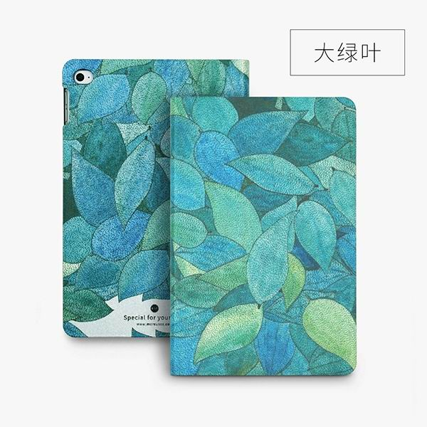 ipad mini 4 cute case with 2 stand plastic body and wide variations of illustrations large green leaves: