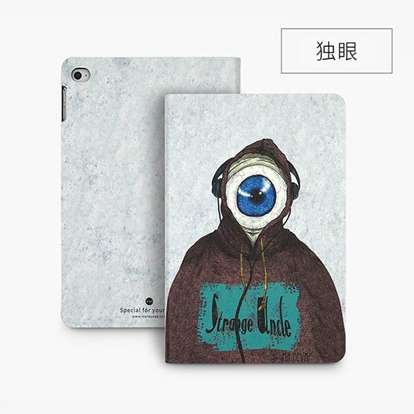 ipad mini 4 cute case with 2 stand plastic body and wide variations of illustrations One-Eyed: