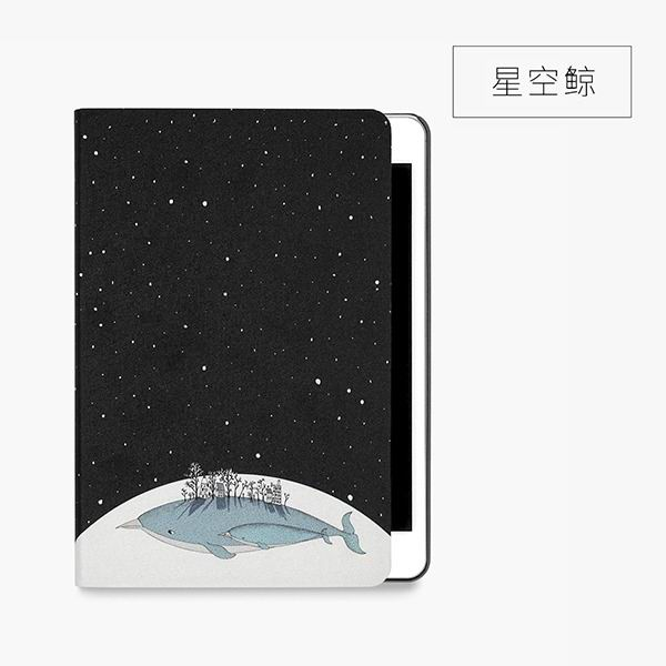 ipad mini 4 cute case with 2 stand plastic body and wide variations of illustrations star whale: