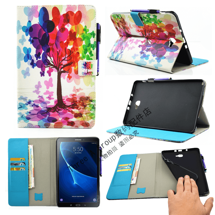 galaxy tab a 10 1 2016 cute case with a large selection of pictures 2 stand silicone housing and with holder tree: