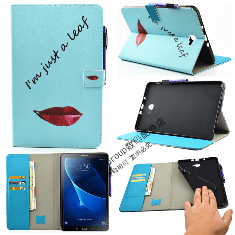 galaxy tab a 10 1 2016 cute case with a large selection of pictures 2 stand silicone housing and with holder lips: