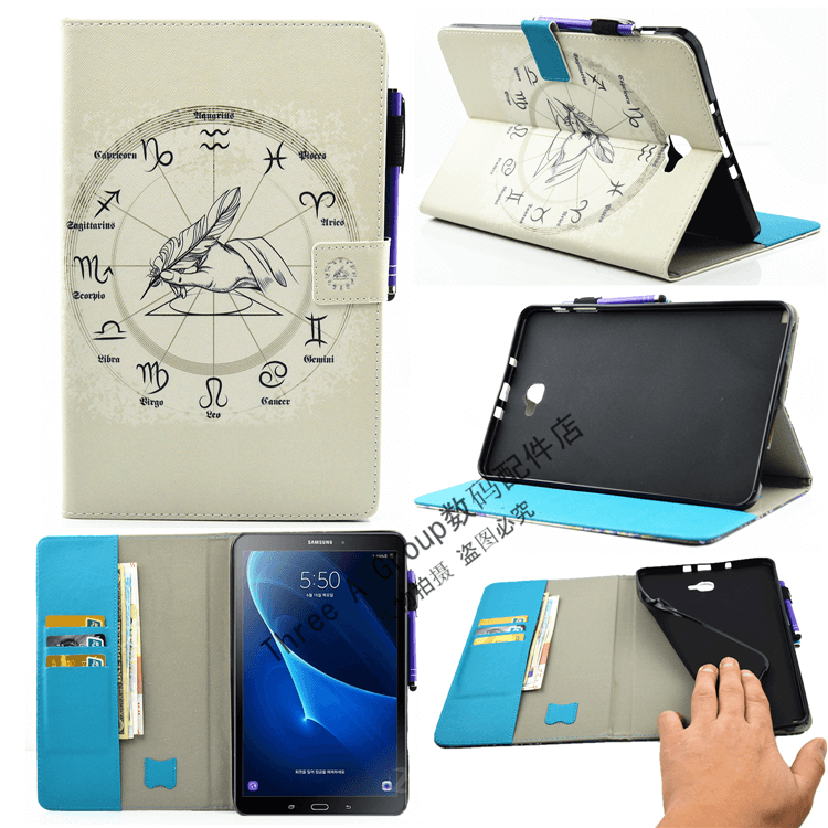 galaxy tab a 10 1 2016 cute case with a large selection of pictures 2 stand silicone housing and with holder horoscope: