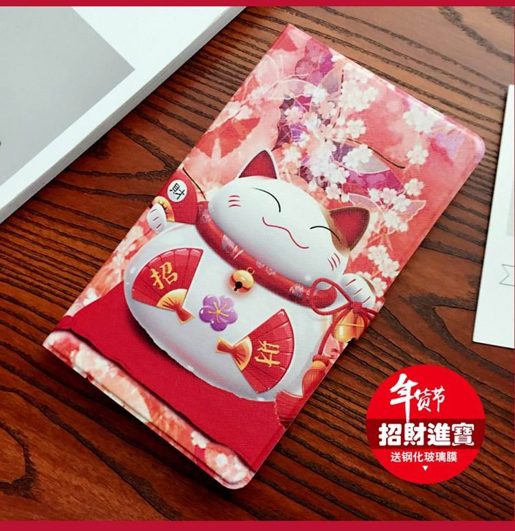 mediapad m3 cute case with a nice lucky cat and 2 stand