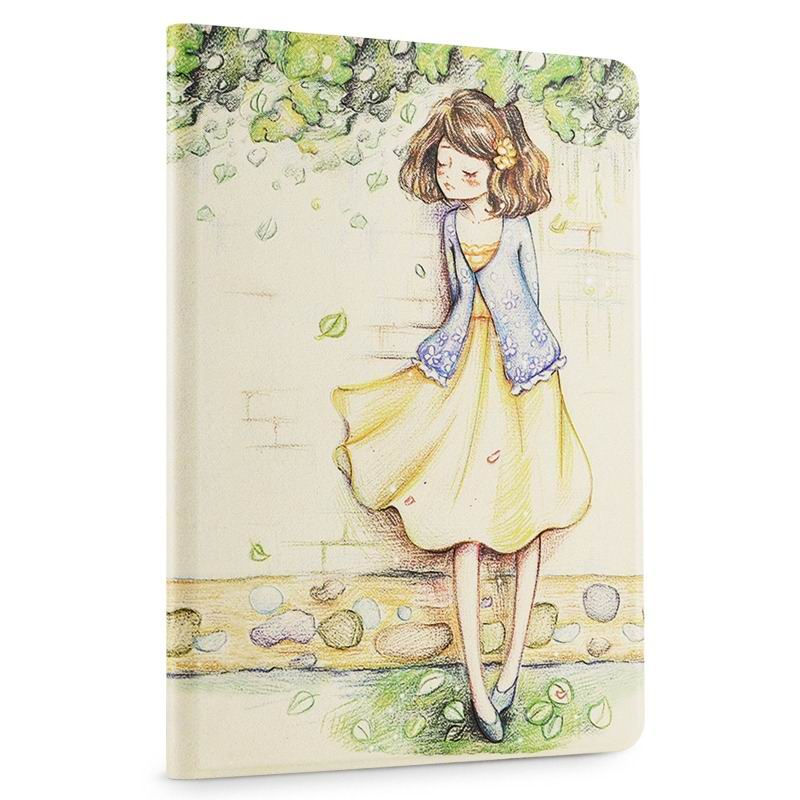 ipad air 2 cute case with a wide variety of illustrations 2 stand and plastic body crayons girls: