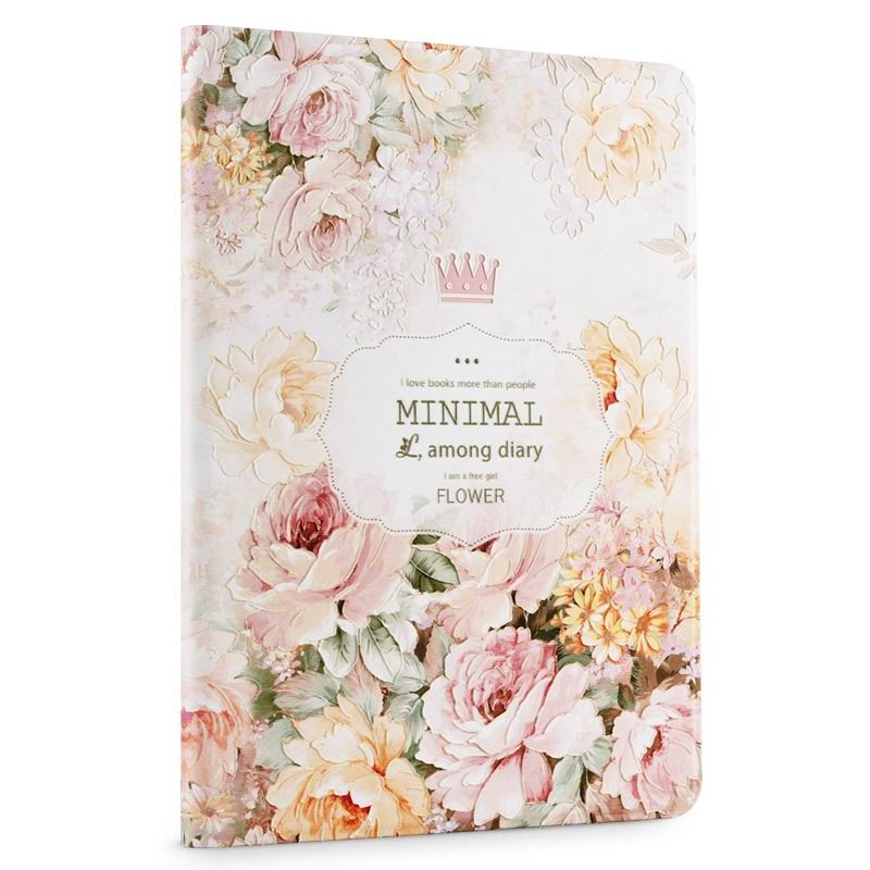 ipad air 2 cute case with a wide variety of illustrations 2 stand and plastic body Peony: