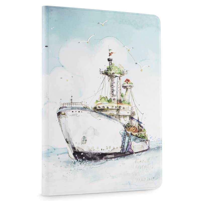 ipad air 2 cute case with a wide variety of illustrations 2 stand and plastic body Navy: