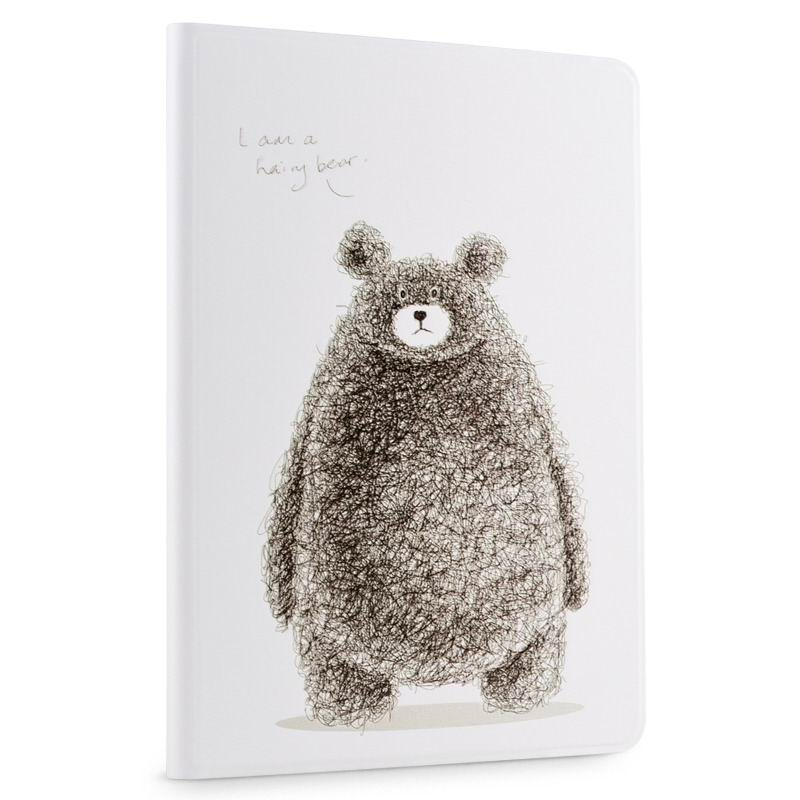 ipad air 2 cute case with a wide variety of illustrations 2 stand and plastic body grizzly bear: