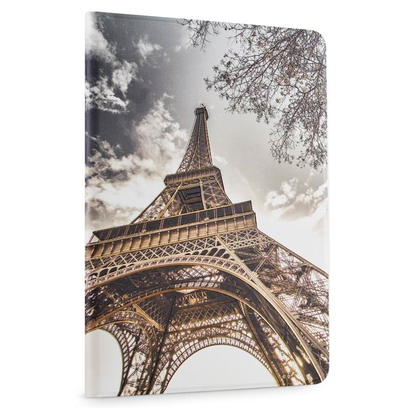 ipad air 2 cute case with a wide variety of illustrations 2 stand and plastic body Eiffel: