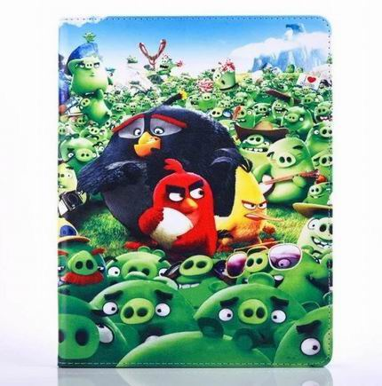 ipad air 2 cute case with pictures of cartoon birds 2 stand and blue silicone housing inside Figure 1: