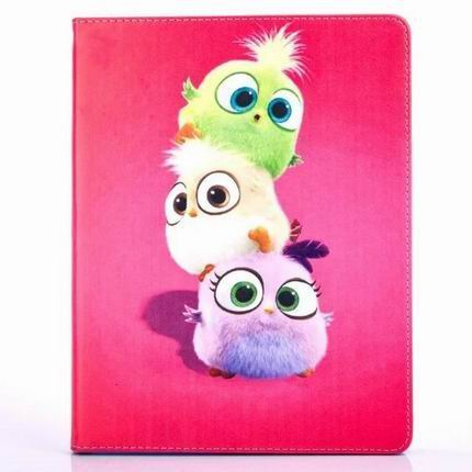ipad air 2 cute case with pictures of cartoon birds 2 stand and blue silicone housing inside Figure 2:
