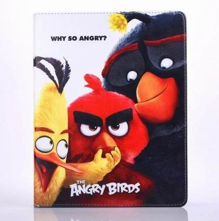 ipad air 2 cute case with pictures of cartoon birds 2 stand and blue silicone housing inside Figure 8: