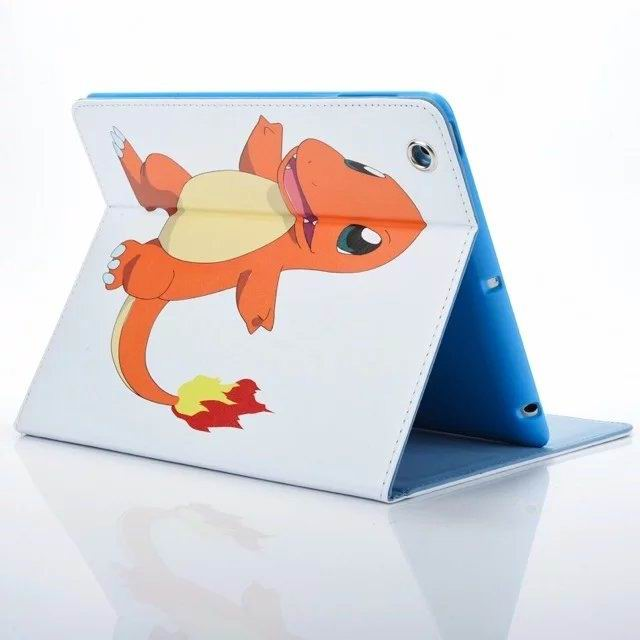 ipad air 2 cute case with pictures of cartoon heroes and blue inside with 2 stand and silicone housing