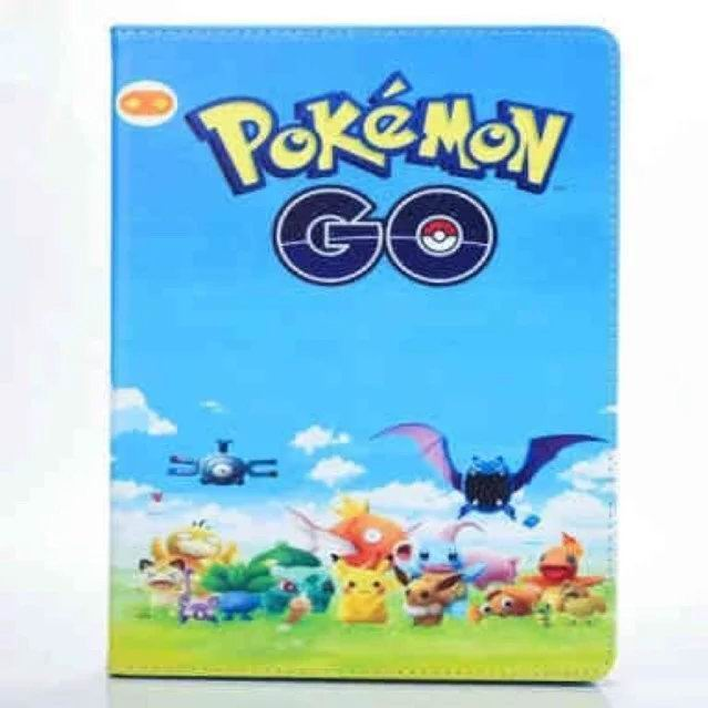ipad air 2 cute case with pictures of cartoon heroes and blue inside with 2 stand and silicone housing Figure 3:
