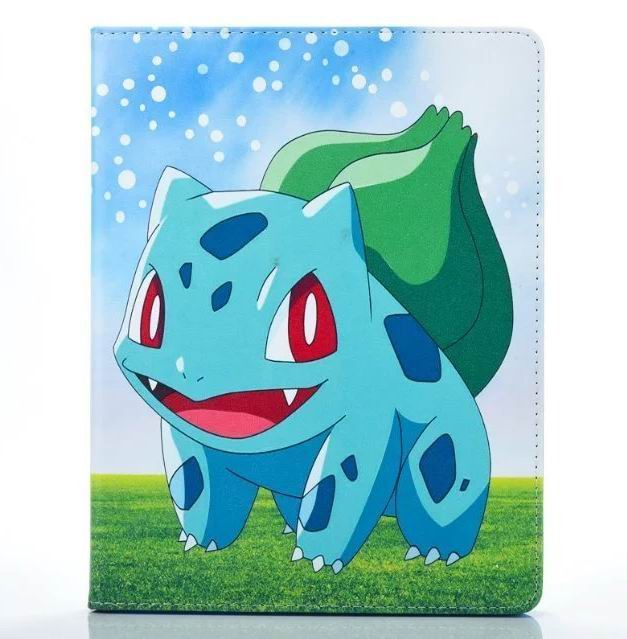 ipad air 2 cute case with pictures of cartoon heroes and blue inside with 2 stand and silicone housing Figure 7:
