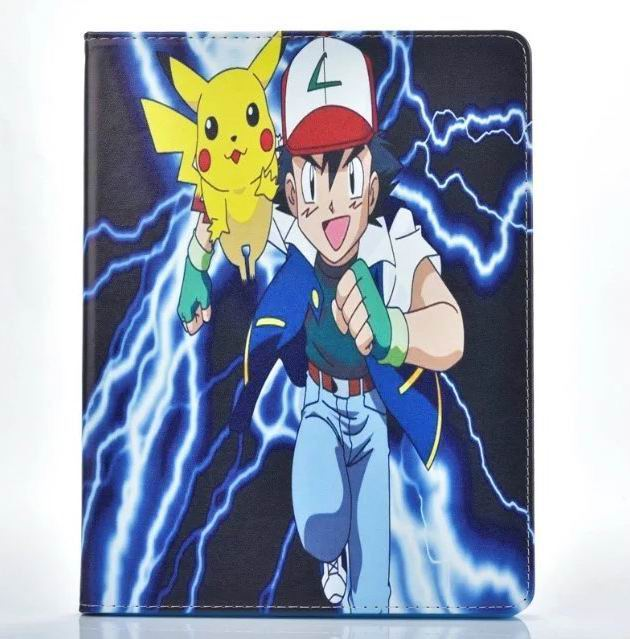 ipad air 2 cute case with pictures of cartoon heroes and blue inside with 2 stand and silicone housing Figure 8: