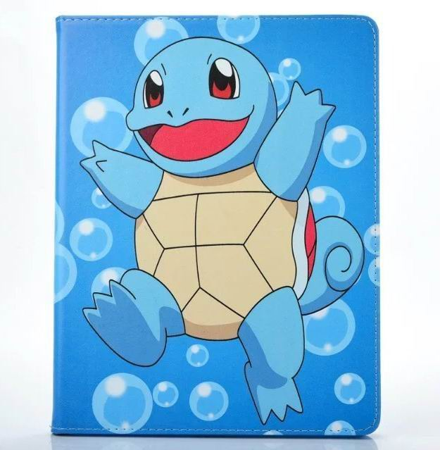 ipad air 2 cute case with pictures of cartoon heroes and blue inside with 2 stand and silicone housing Figure 9: