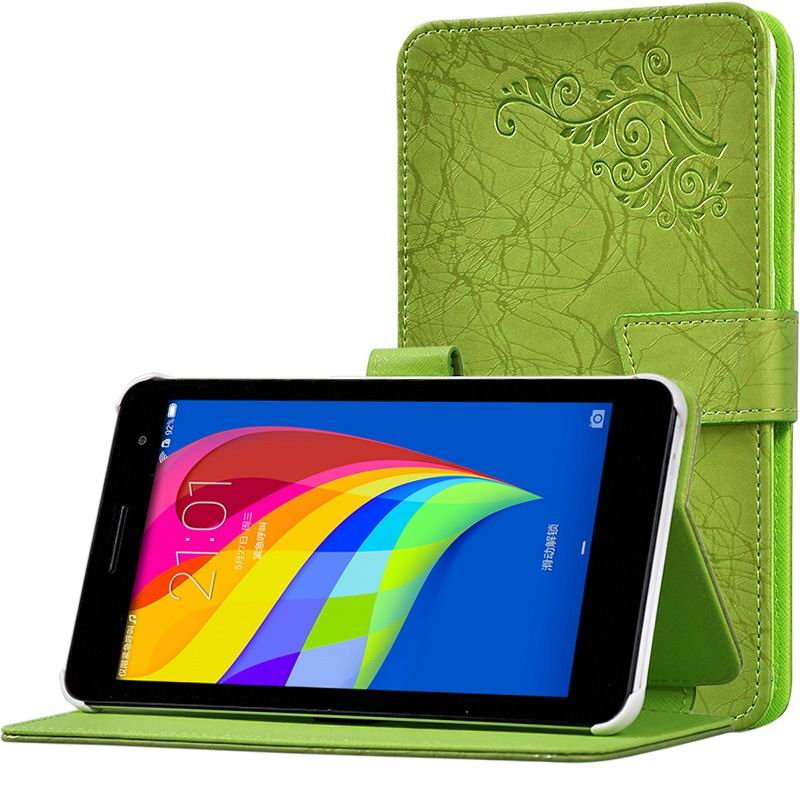mediapad t1 70 plus monochromatic case with a pattern of branches and with plastic white body Green: