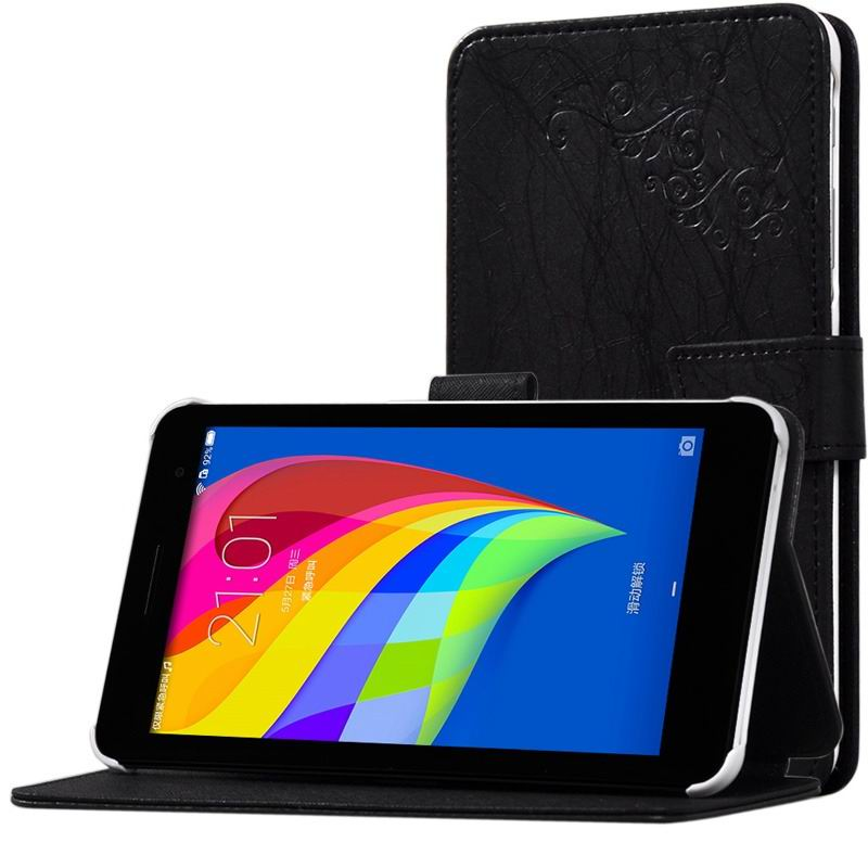 mediapad t1 70 plus monochromatic case with a pattern of branches and with plastic white body Black: