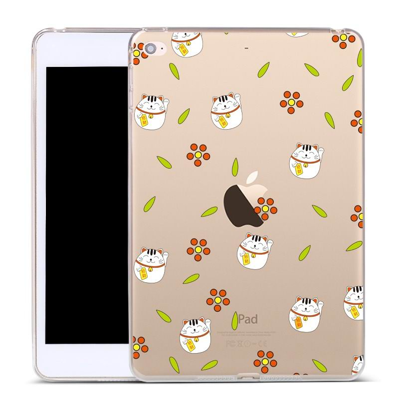ipad air 2 silicone cover Small wealth and fortune cat: