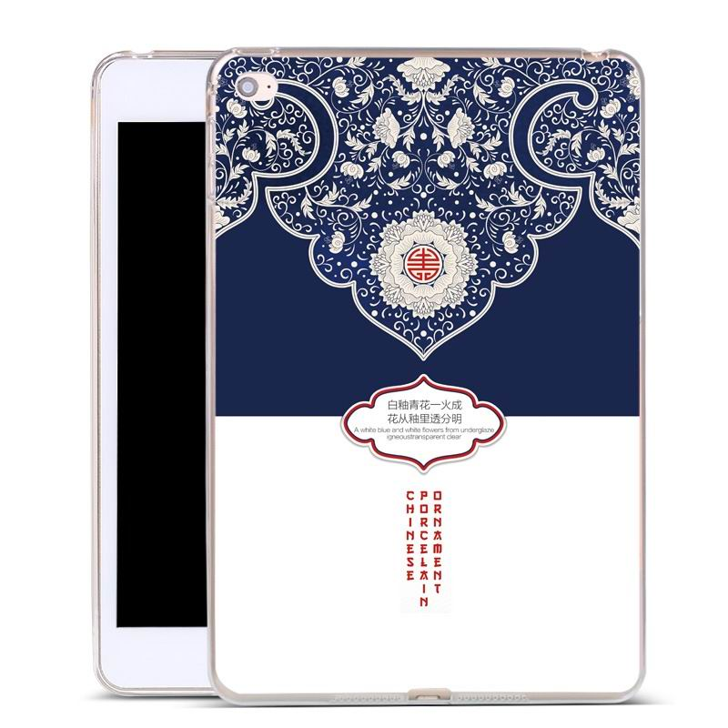 ipad air 2 silicone cover Blue and white porcelain: